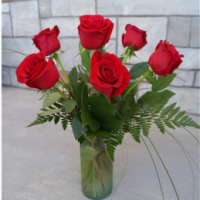half dozen roses for weddings, anniversaries or just because