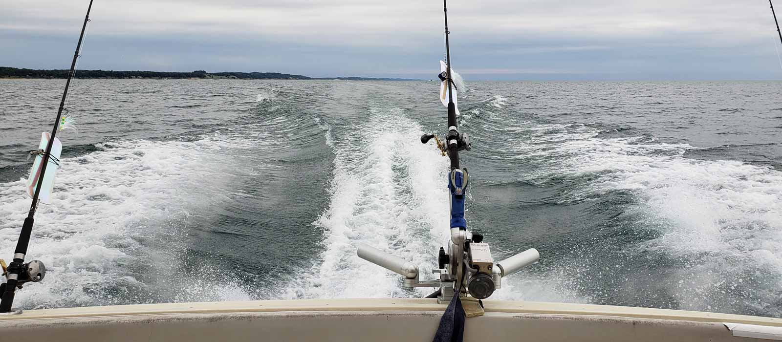 Wake from Fishing Boat